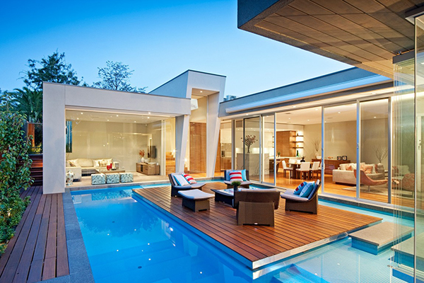 pool area Australian home