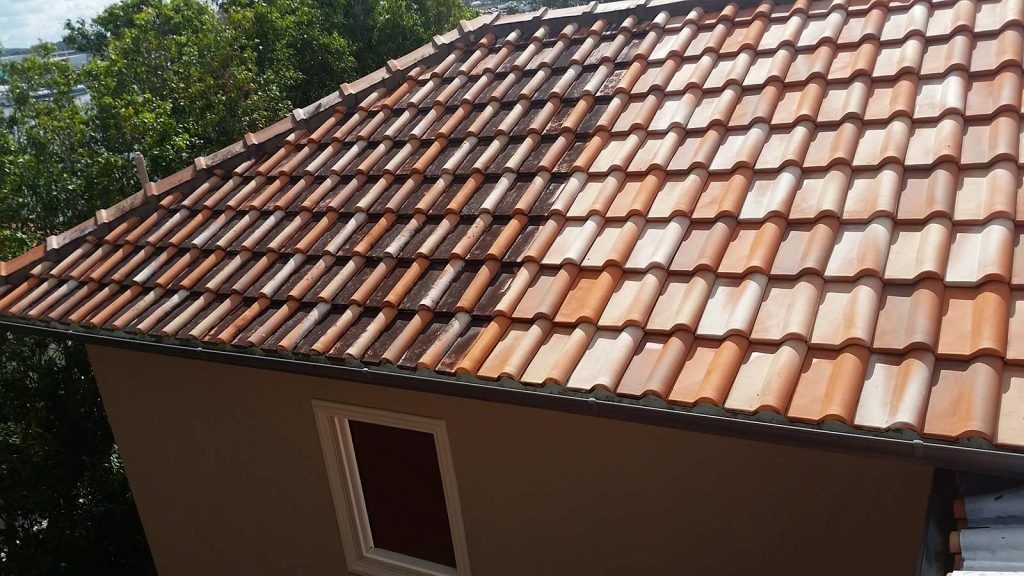 Roof Cleaning in Brisbane – Before & After Image