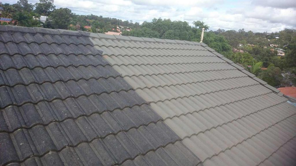 Roof Cleaning Brisbane Before and After