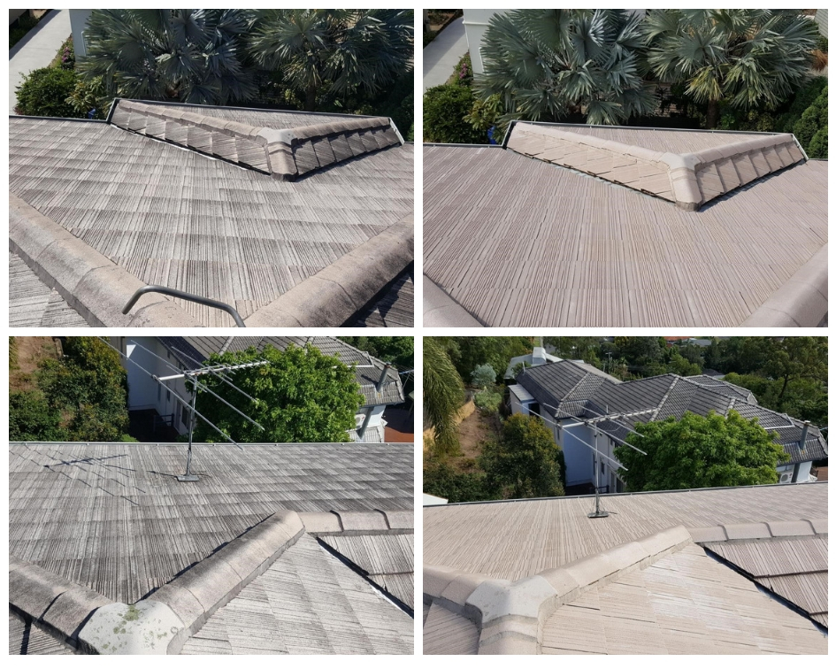 Before and After Roof Cleaning Result